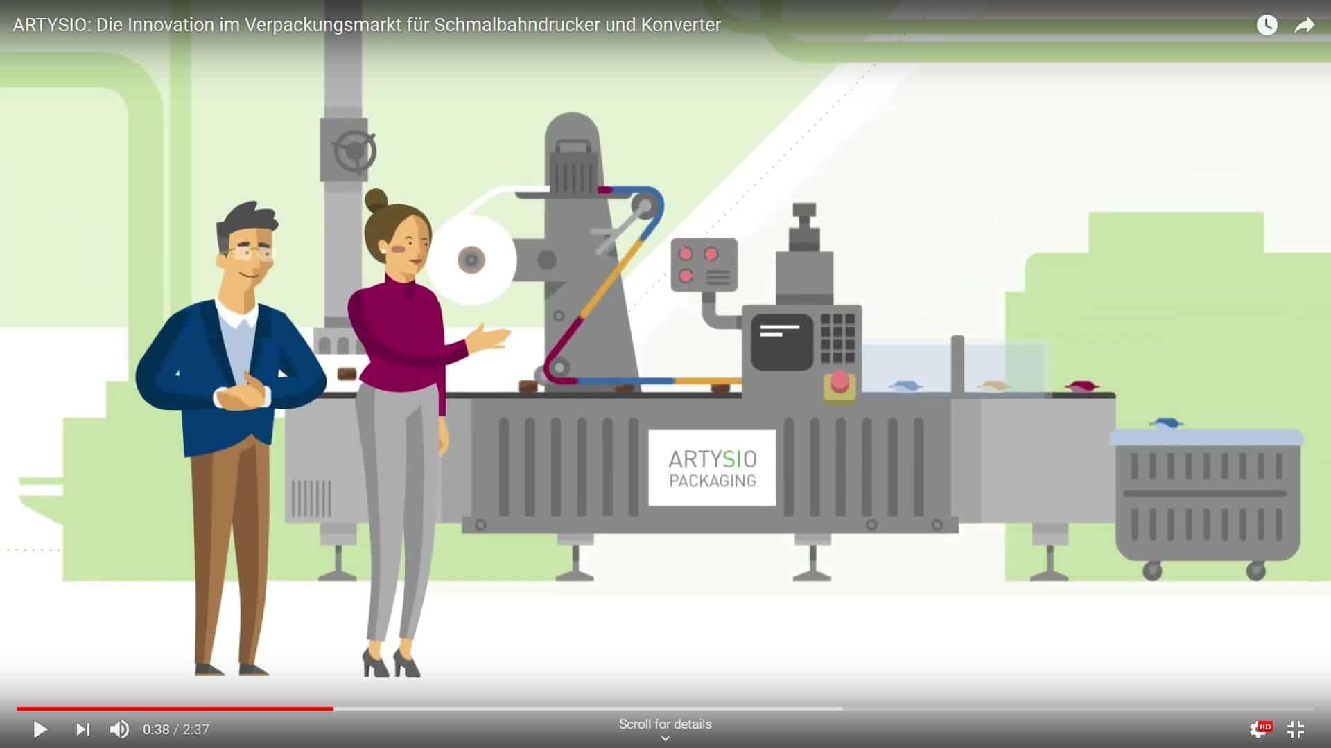 Neuer Erklärfilm von SIHL – ARTYSIO, die Innovation im Verpackungsmarkt für Schmalbahndruckereien und Konverter