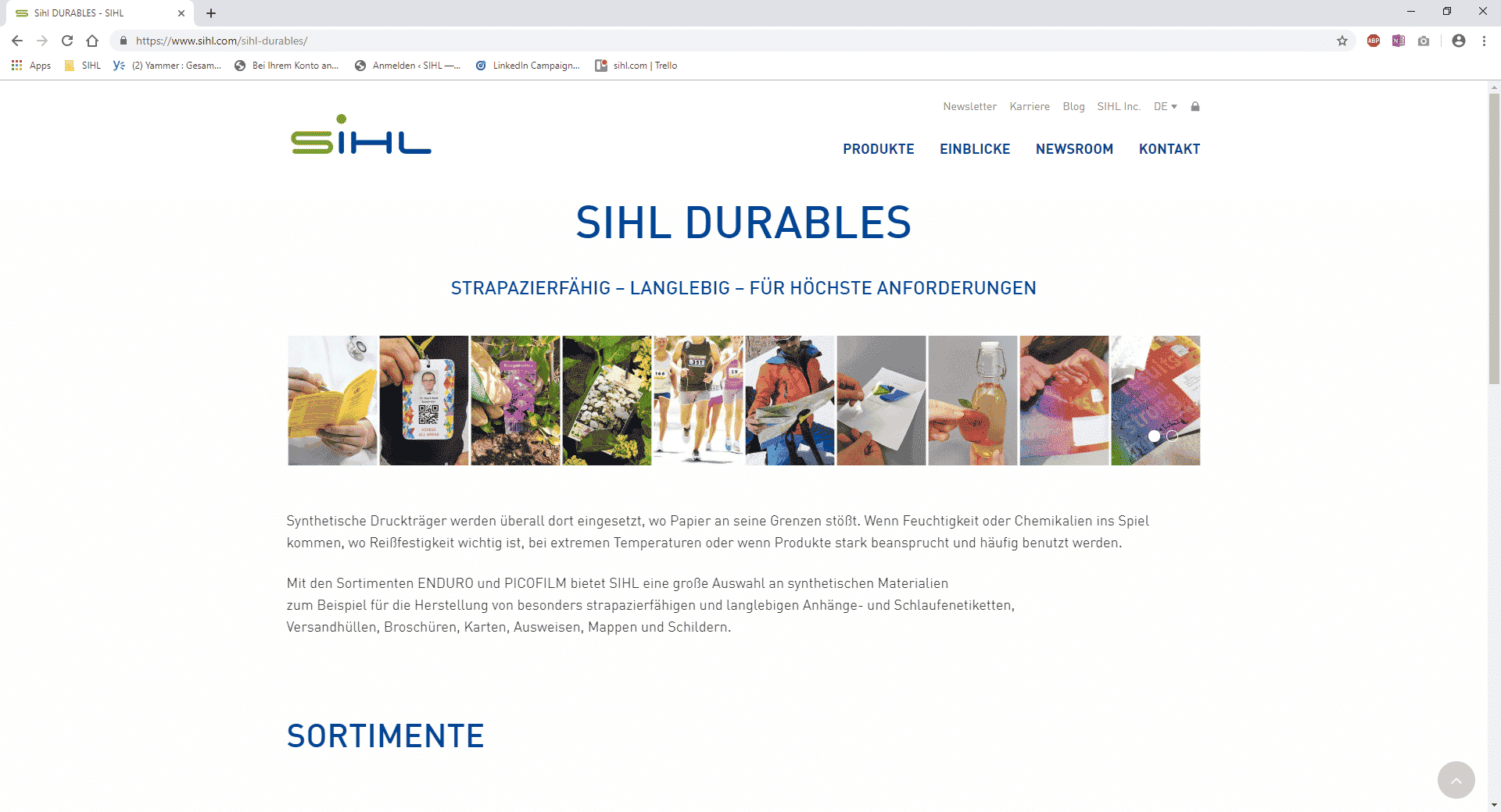 SIHL DURABLES: Hard-wearing, long-lasting, for demanding applications